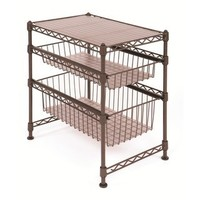 Seville Classics 11-1/2-Inch by 17-1/2-Inch by 18-1/2-Inch Stackable Kitchen Cabinet Organizer