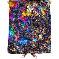 Fractal Acid Fleece Blanket