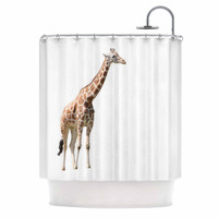"Sylvia Coomes ""Giraffe"" Animals Photography Shower Curtain"