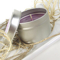 Black Currant Tea scented Soy Candle - Soy Scented Candle Tin -- 4 ounce Tin