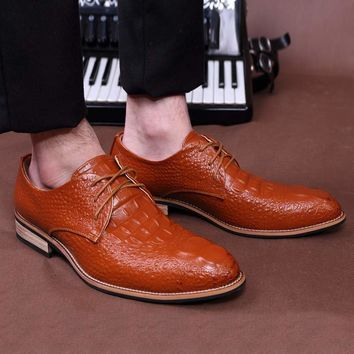 hot sale men shoes formal  PU lace up oxfords wedding Pointed Toe Business Flats men dress shoes k125