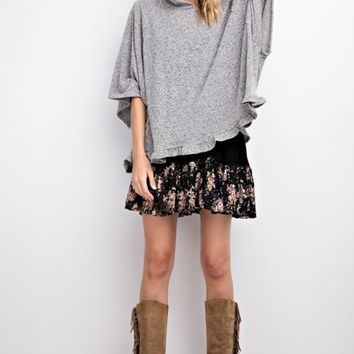 Boxy Top Pullover Hoodie
