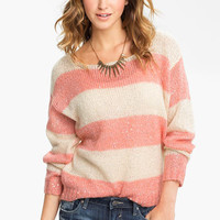 Love on a Hanger 'Stripe and Shine' Sweater (Juniors) | Nordstrom