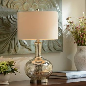 Dynia Silver Mercury Glass Table Lamp | Kirkland's