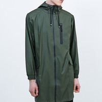 Rains Parka Jacket in Green - Urban Outfitters