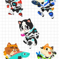 Voltron Cat Charms by (◎▽◎)