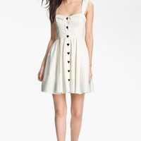 Betsey Johnson Button Detail Fit & Flare Dress | Nordstrom