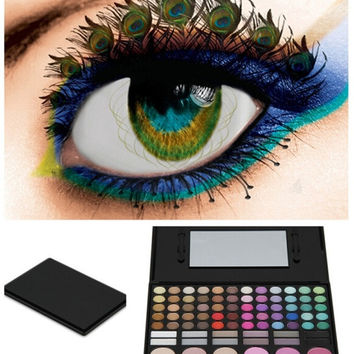 78 colors Mineral Makeup Combination Palette Eye Shadow + Blush Powder + Trimming Powder (Color: Black) = 1841402884