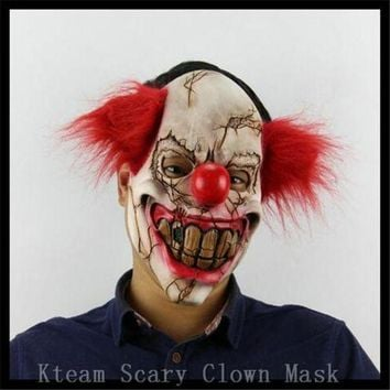 CREY6F Free Shipping!!! Funny Party Cosplay Evil Circus Clown Mask Pennywise Halloween Horror Party Fancy Dress Costume Accessory