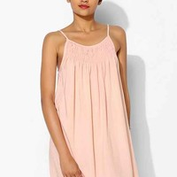 Pins And Needles Georgina Smocked Slip Dress- Rose M