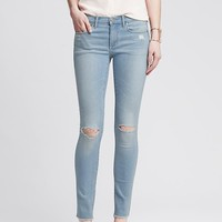 Banana Republic Womens Distressed Light Wash Skinny Ankle Jean