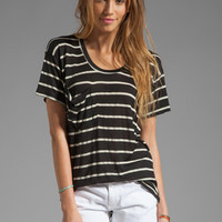 Kain Sheer Jersey Classic Pocket Tee in Black/White Stripe from REVOLVEclothing.com