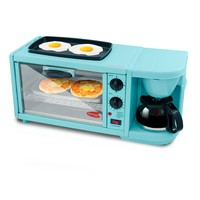 Americana by Elite 3 in 1 Extra Large Breakfast Center Coffee Toaster Oven Griddle Blue 0 N