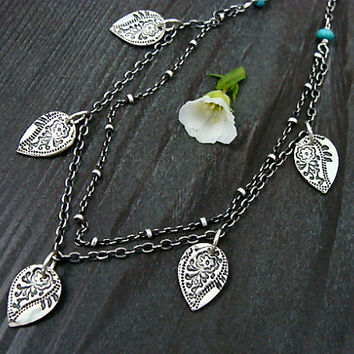 wellspring ... paisley petal necklace