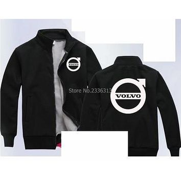 Winter autumn overalls customized 4S shop maintenance VOLVO sweatshirt after-sales men and women coat work clothes zipper jacket