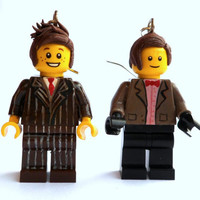 Doctor Who Earrings Ten & Eleven Lego by emmivisser on Etsy