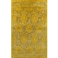 Mykonos Medallion Gold Yellow Over Dyed Rug