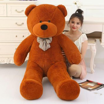 Big Sale giant teddy bear 160cm 180cm 200cm 220cm  life size large huge big plush stuffed toy dolls girl birthday valentine gift