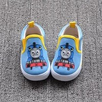 2017 New Thomas Train Canvas Children Shoes,Soft Kids Shoes Boys,Girls Shoes,Boys Shoes Sneakers,Chanssure Enfant,Tenis Infantil