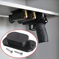 1 PCS Magnetic Concealed Gun Pistol Holder Holster Under Desk Table Door Bed Magnet Gun magnet Hunting Accessories Free Shipping