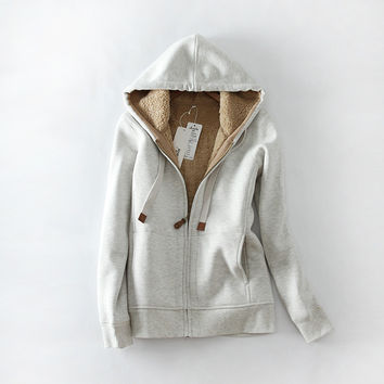 Hats Thicken Zippers With Inner Bag Hoodies [9296766404]
