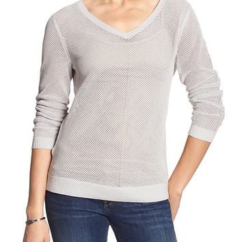 Banana Republic Womens Factory Mesh Textured Sweater