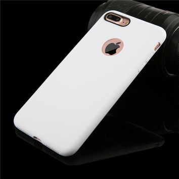 Cute Candy Color Silicon TPU Gel Soft Cover For iPhone 7 6 6s Plus 5 5s SE Case Ultra Thin Durable Rubber Shockproof Phone Cases