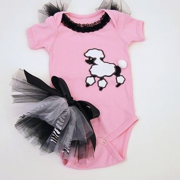 Hiney Tutu Set Pink Poodle by DetailsandFairyTales on Etsy