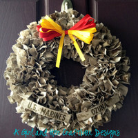 USMC Desert Cammie WreathWith Name Tapes by agirlandhercraftbox
