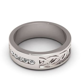 Womens ring Wedding ring Silver Wedding band engraved Celtic rin 41eaef29a