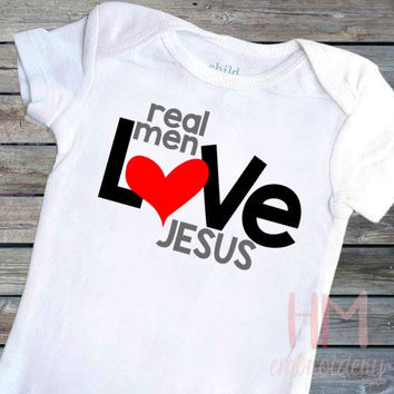 Real Men Love Jesus Vinyl Shirt