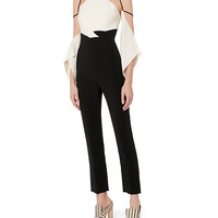 Roland Mouret Benford Colorblocked Cold Shoulder Jumpsuit - INTERMIX®