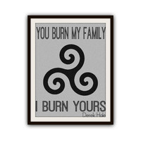 Teen Wolf Inspired Typography Triskelion Poster