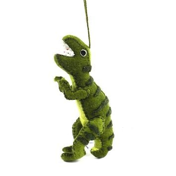 T-Rex Fair Trade Felt Tree Ornament