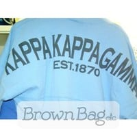 Kappa Kappa Gamma Spirit Football Jersey - Clothing