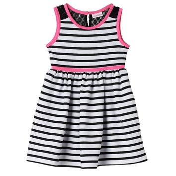Youngland Striped Dress - Toddler Girl, Size: