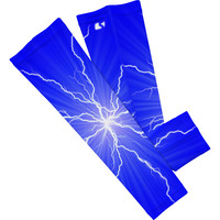 Blue Lightning Arm Sleeves