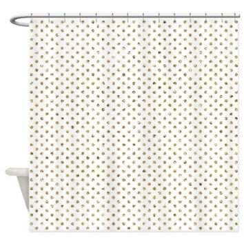 Gold Glitter Effect Polka Dots Shower Curtain> Gold Glitter Effect Polka Dots> Buy Gifts