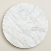 White Marble Lazy  Susan - World Market