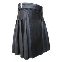 Knee Length Leather Kilt