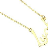 Gold Link Metal Necklace