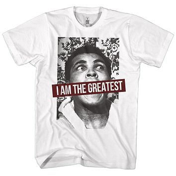 Muhammad Ali T-Shirt I Am The Greatest Poster White Tee