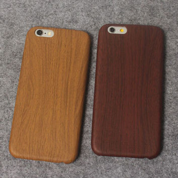 Wood Grain Case for iPhone 5s 6 6s Plus Gift 08
