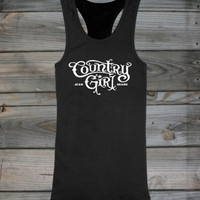 Juniors Country Girl ® Logo Racerback Tank - Country Fashion Clothing