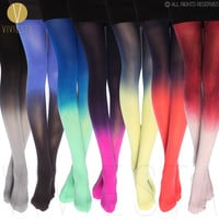 DIP DYED GRADIENT OPAQUE TIGHTS
