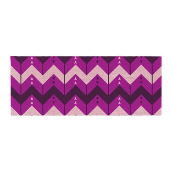 "Nick Atkinson ""Chevron Dance Purple"" Bed Runner"