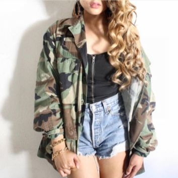 Vintage US army camo military jacket