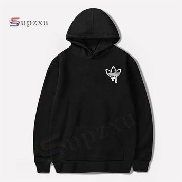 Supzxu New 2018 Funny Sweatshirt Sleeves Hoodie Men Fashion Doodle Print Black And White ADI Cozy Hoodie Breathable Casual Homme