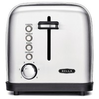 BELLA Classics 2 Slice Toaster, Stainless Steel