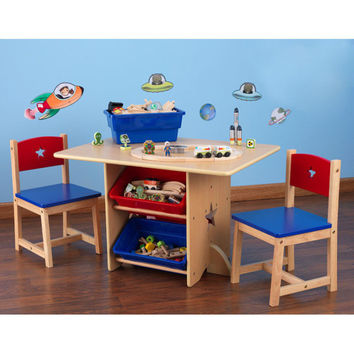 Kids Table Chair Set Play Activity Storage Furniture